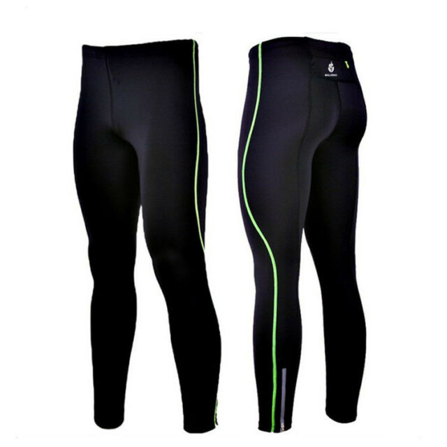 Mens Compression Gym Clothes Running Leg Capri Pants Long Pant Tights Skins