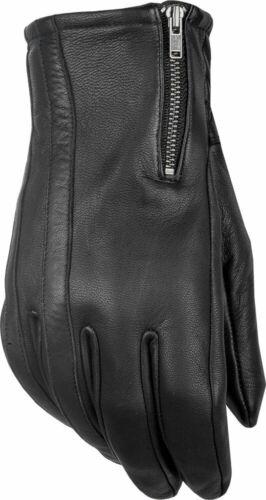 Black HIGHWAY 21 Men/'s RECOIL Leather Riding Gloves L Large