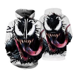 NEW Superhero Venom Spiderman 3D Hoodie Sweatshirt Jacket Coat Long Sleeve Tops
