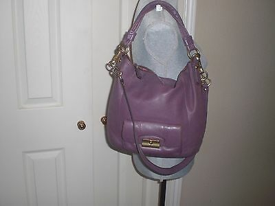 COACH 14783 Kristin Purple Leather Convertible Hobo/crossbody bag