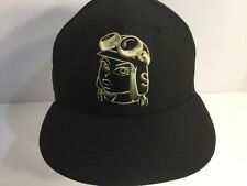 New Era 59Fifity Soles Inc Hat Cap Black Gold Logo Size 7 5/8 Fast Shipping