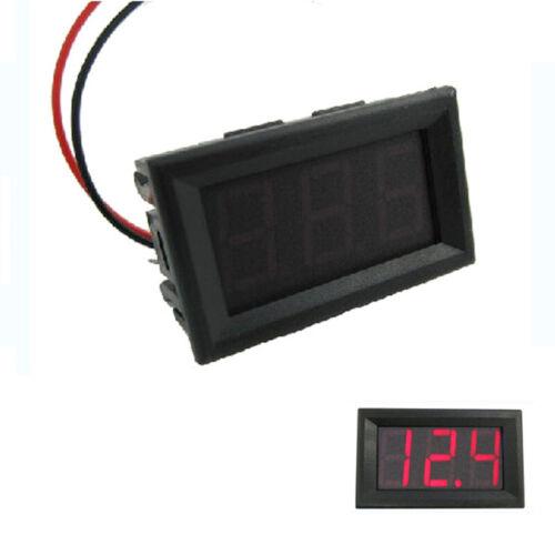 Details about  /2-wire Mini DC 4.5-30V Voltmeter LED Panel 3-Digital Voltage Meter Guage Tool~