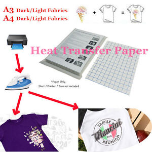 photo about Printable Iron on Paper named Information with regards to Great deal T-Blouse Print Iron-Upon Warmth Shift Paper Sheets For Dim/Light-weight Material Material