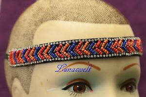 -fashion Stirnband Indy Style Perlen 22 Mm Breit - Eine Hohe Bewunderung Gewinnen