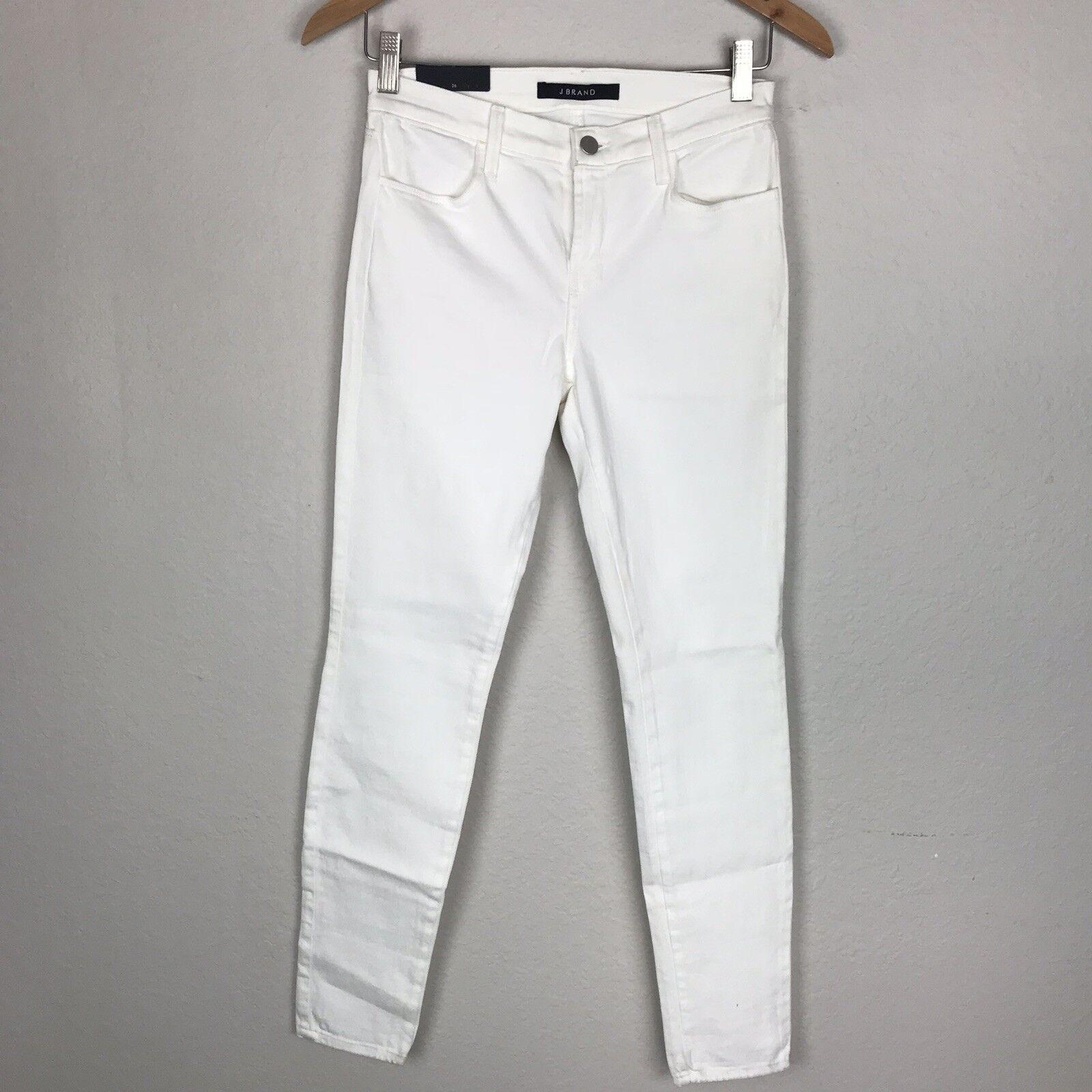 J Brand Super Skinny White Jeans Womens Size 26 Casual Full Length