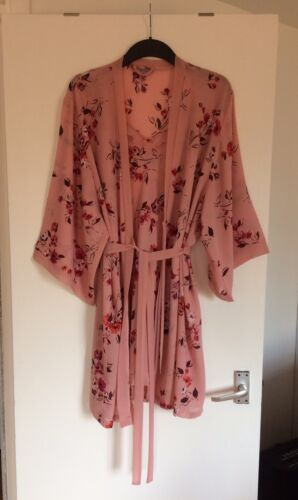 Stunning 12 uk Debenhams 14 Pink amp; Baby Robe Floral Ladies Set Chemise 16 rvaYnr