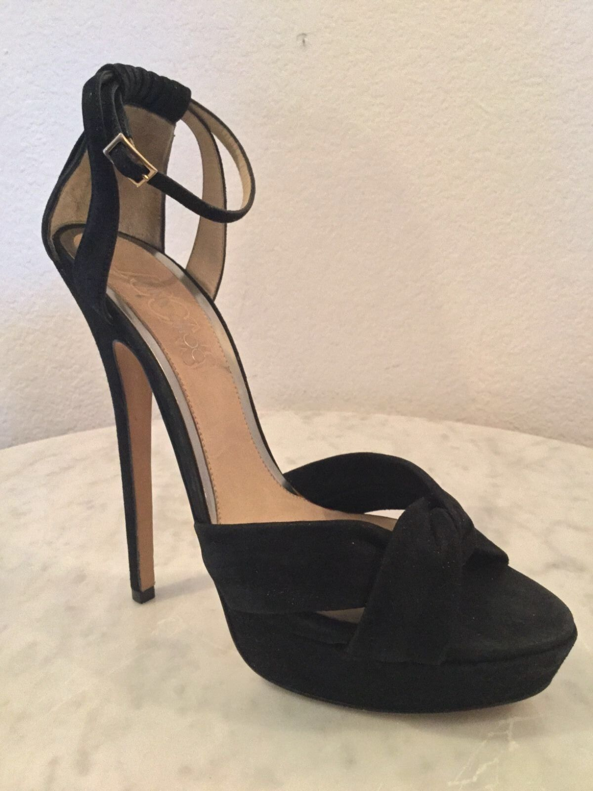 al prezzo più basso Jimmy Choo Icons  Greta  nero Shimmer Shimmer Shimmer Suede Sandal. Donna  Sz 40 1 2 M. .  negozio online