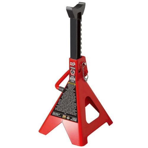 Rouge Big 6 T Double Verrou Acier Jack Stands 2 Pack T46002C Heavy Duty Steel