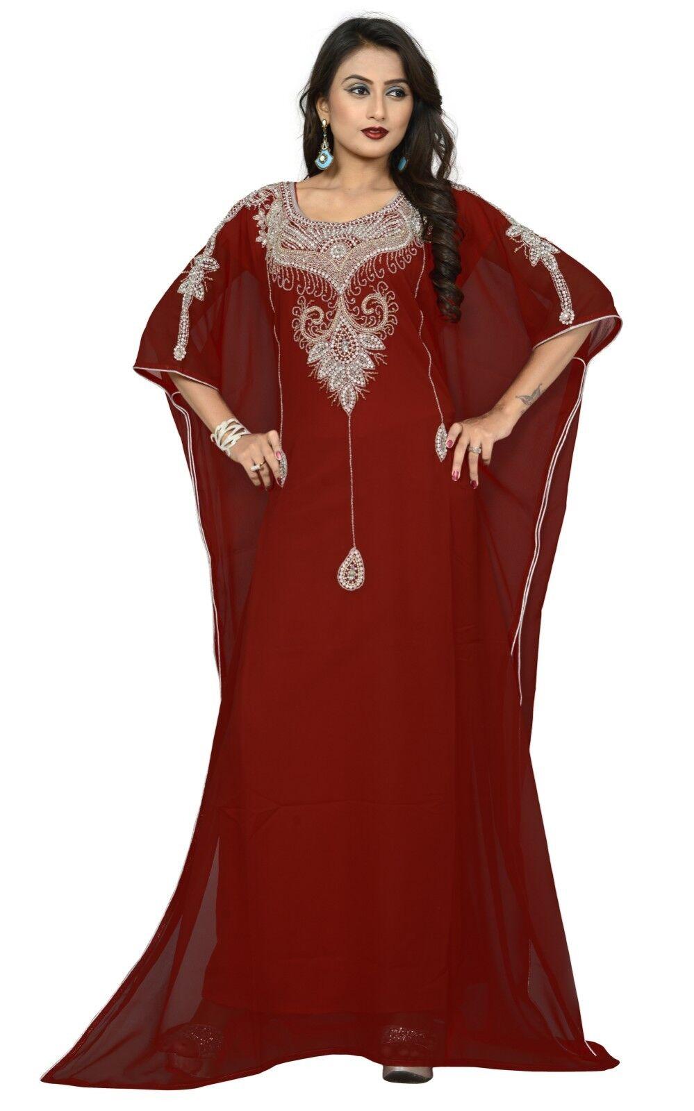 Dubai HAND EMBROIDERED Farasha Kaftan Caftan Jalabiya Maxi Maxi Maxi Dress FREE SIZE - N28 364fbb