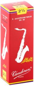 Vandoren SR2725R 5 Tenor Sax Java Red Cut Reed #2.5