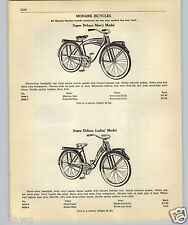1952 PAPER AD 5 PG Monark Bicycle Super Deluxe Tank Front Springs Headlight