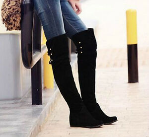 Womens Over The Knee Flat Boots - Boot Hto