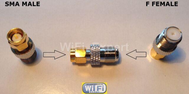 F Type Female Jack to SMA Male Plug Adapter RF Converter for FlightAware USB