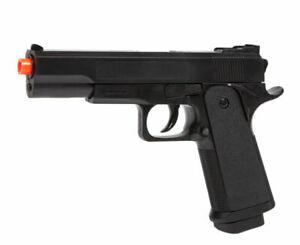 """2x 8.25/"""" 1911 Replica Airsoft Pistols Handguns Guns w// 5000 BBs Air Soft G153B"""