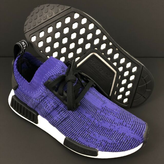brand new 44594 4b2f2 Adidas NMD R1 PK Primeknit Purple Black Energy Ink Mens Running Shoes Size  11