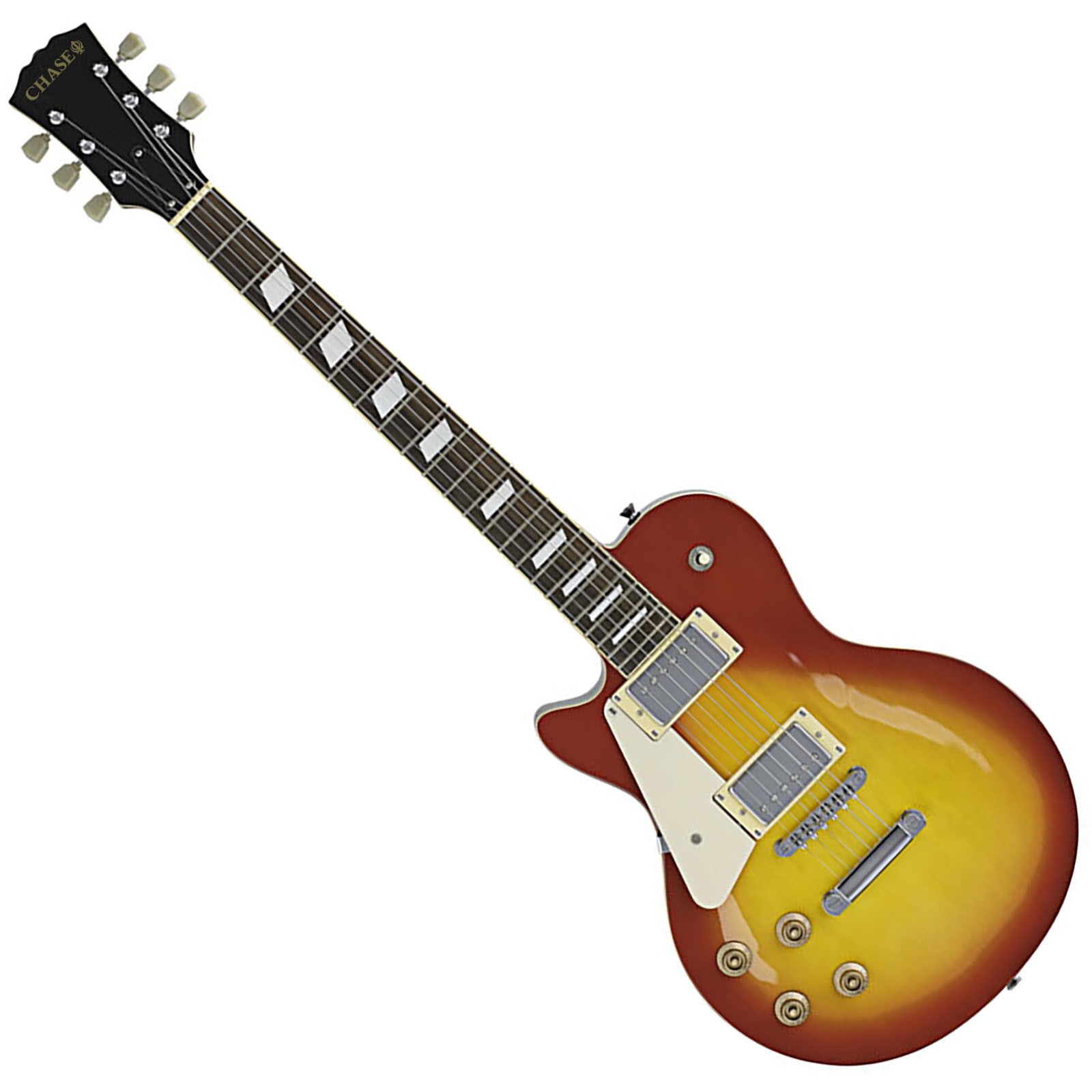Chase Les Paul Electric Guitar L320LH-CS Left Handed In Cherryburst Finish c