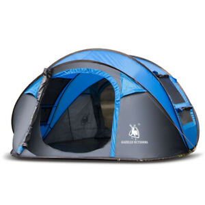 Outdoor-4-Person-Camping-Hiking-Tent-Auto-Open-Single-Layer-Canopy-Waterproof
