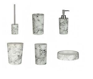 New-Rome-Marble-Effect-Bathroom-Accessories-Set-6pc-ABS-Plastic-Bath-Toilet-Set