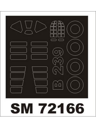 Montex 1/72 canopy masks for Hasegawa B-239 Buffalo - SM72166