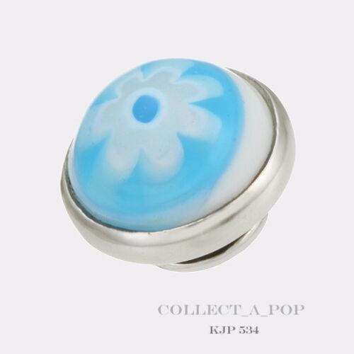 retraite * Authentic Kameleon Argent Sterling Fleur Bleu Power jewelpop KJP534