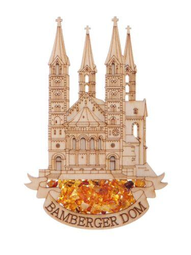 echter Bernstein Kühlschrankmagnet Bamberger Dom
