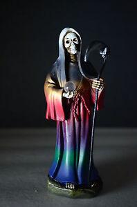La-Santa-Muerte-5-034-Grim-Reaper-Death-Multi-Color-Skull-Skeleton-Halloween