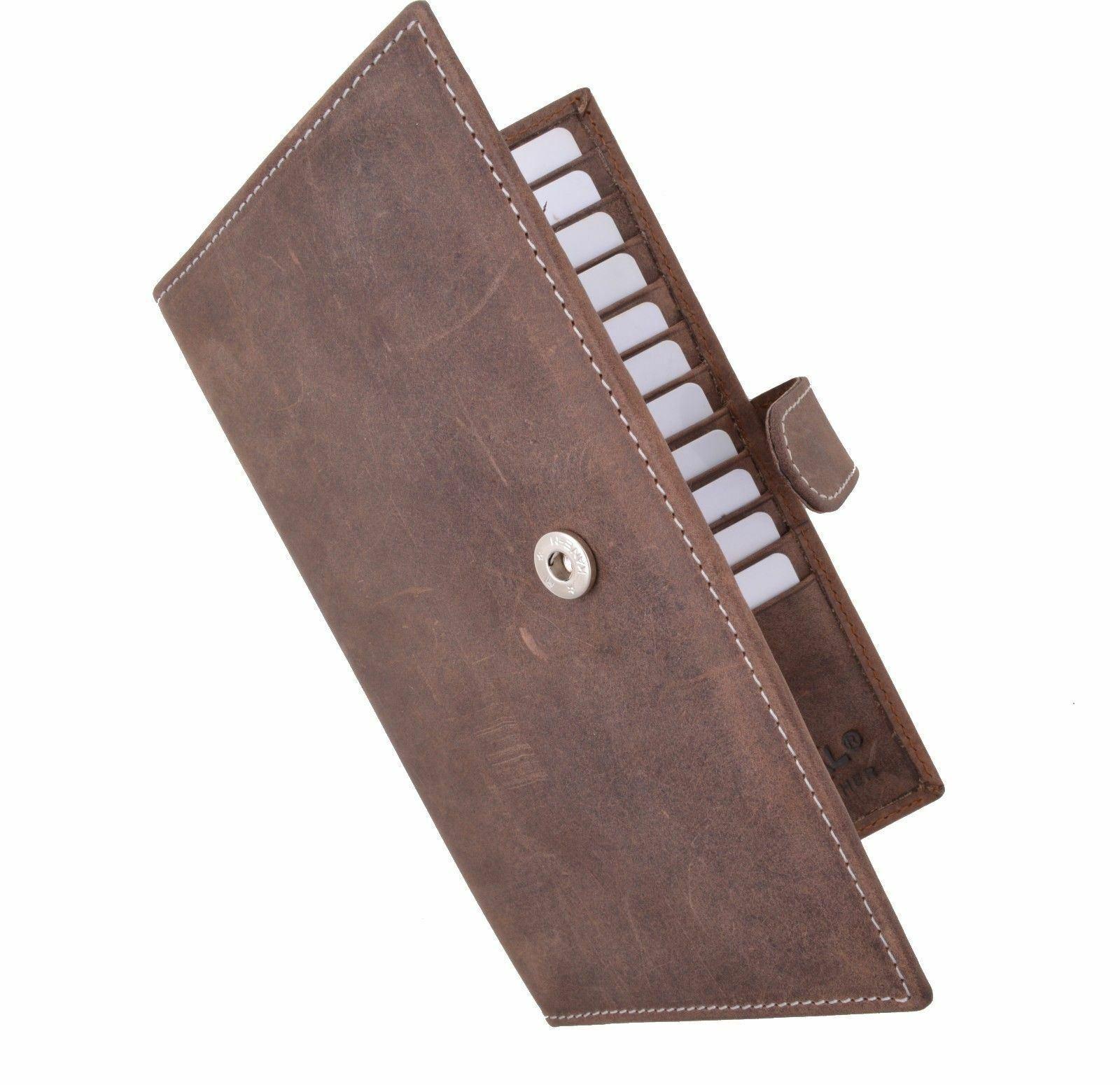Men's RFID Blocking Soft Vintage Leather Bifold Credit Card Holder with Closure