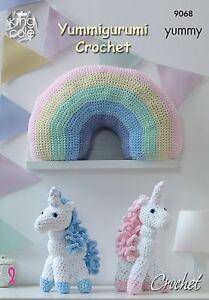 King Cole Gabarit Pour Crochet pour Licorne et arc en ciel Coussin - 9068