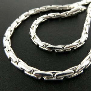 Necklace-Chain-Real-925-Sterling-Silver-S-F-Solid-Heavy-Bling-Unisex-Link-Design