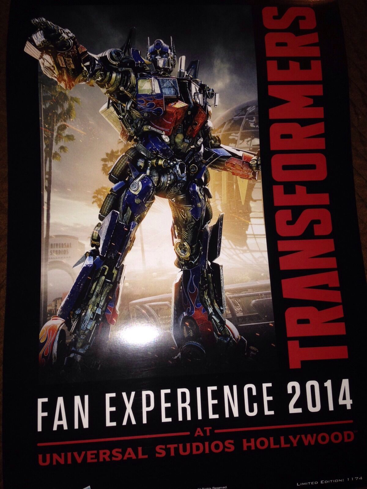 Botcon 2014 Transformers Universal Studios Fan Experience Lithograph Exclusive