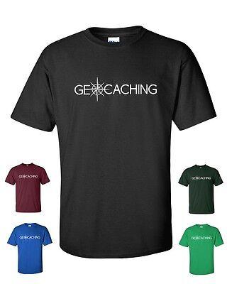 GEOCACHING Treasure Hunt Fun Compass Navigation Men's Tee Shirt 353
