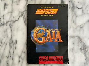 SNES ILLUSION OF GAIA Instruction Manual - Super Nintendo Book