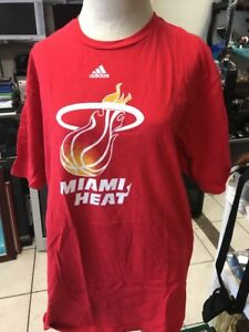 a32cbe95cb3f5 Miami Heat Adidas Red The Go To Tee Shirt (Adult X-Large)