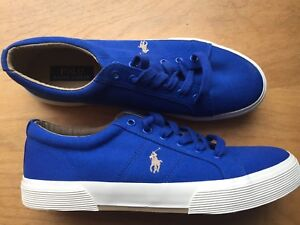 13eeff2685 Polo Ralph Lauren Felixstow Royal Blue Oxford Canvas Shoes Sneakers ...