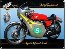 MIKE HAILWOOD METAL SIGN,BRITISH MOTOR CYCLE RACING CHAMPION.ICONIC RIDER.