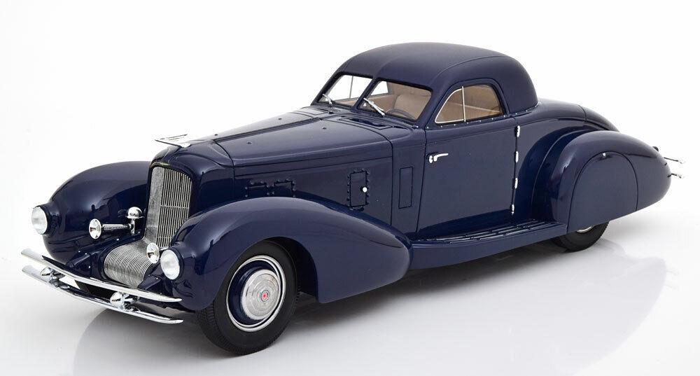 1935 Duesenberg Model J Walker Aerodynamic Coupe Dark blu 1 18 Scale LE of 300