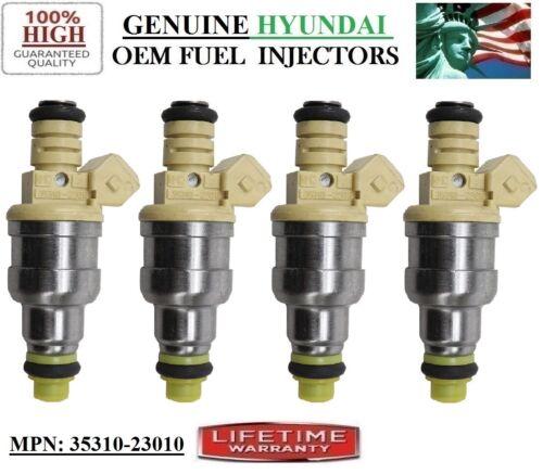 1997 Hyunda Tiburon 1.8L I4 Authentic Hyundai #35310-23010 Fuel Injectors 4-unit