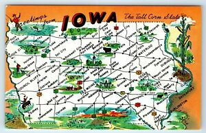 Vintage Postcard Greetings From Iowa IA State Map Road Attractions on state of maine state map, detailed florida state map, state of florida road map, united states map, io state map, mo state map, nb state map, florida's state map, sd state map, nationwide state map, alabama state highway map, alberta state map, in state map, bloomington indiana state map, mx state map, gatlinburg tennessee state map, la state map, nl state map, de state map, d.c. state map,