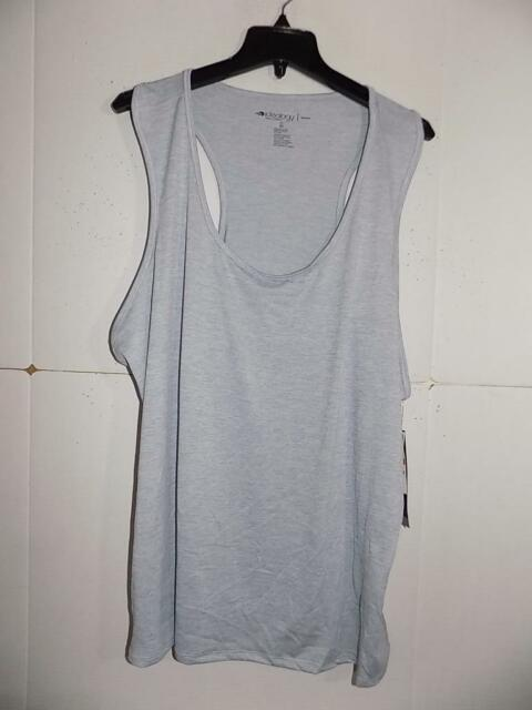 8692aa746977a5 Ideology Women s Plus Silver Semi Fitted Racerback Tank Top NWT Size 3X  A1605
