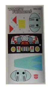 G1 Ramjet Complete Sticker Decal Sheet