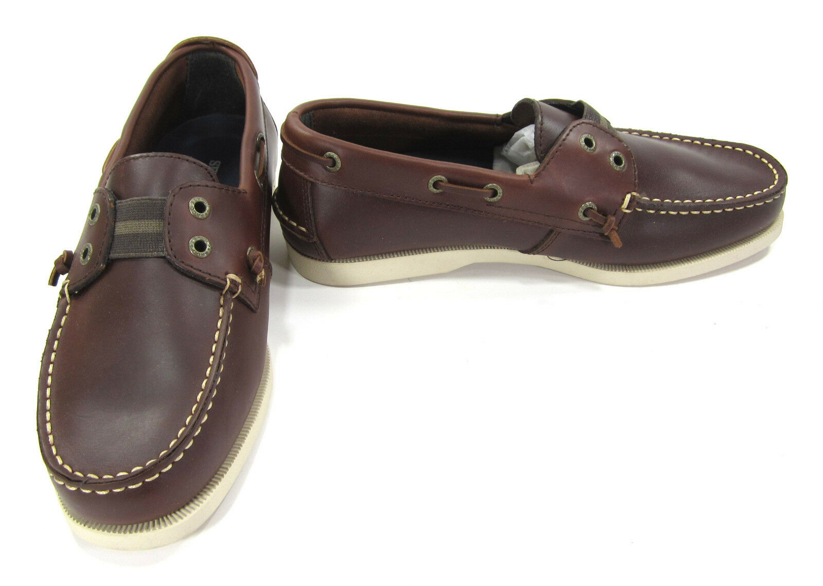 Sebago Boat Shoes Wharf Slip-On Loafers Brown Topsiders Size 8