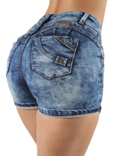 Booty Shorts Butt Lift Mid Waist Push Up Women/'s Juniors Colombian Design