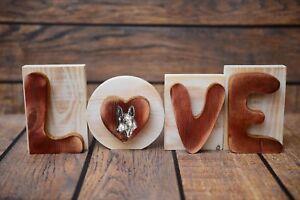 Basenji - Inscription En Bois 'love' Avec Un Chien Art Dog Fr