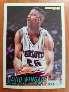 Carte Fleer Collection Basketball 🏀 1994 1995 Hornets #29 David Wingate