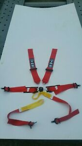 TRS Magnum 6 point superlite harness red dated 2021 FIA approved Lola F3