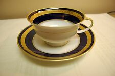 Rosenthal Eminence Germany, Cobalt Blue Footed Demitasse Cup & Saucer, Winifred