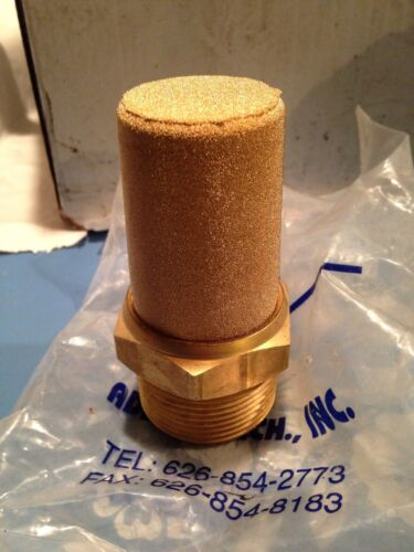 Adsens BM-128 11/4 Inch Pneumatic Muffler Cone Filter Silencer Fitting Brass