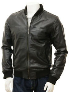 New-Soft-Lambskin-Motorcycle-biker-Genuine-Leather-Jacket-Cafe-Racer-Bomber-239