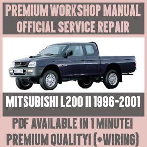 mitsubishi l200 truck full service repair manual 1996 2001