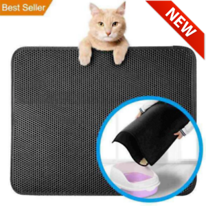 2019-New-Double-Layer-Cat-Litter-Mat-Silver-Ion-Antimicrobial-Protection